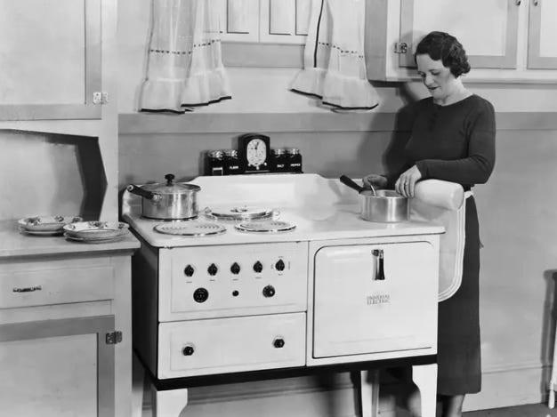 Las primeras cocinas a gas en los años 40