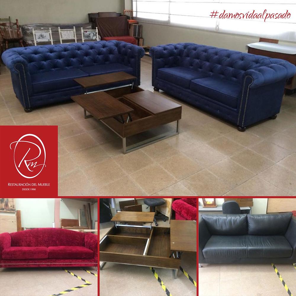 Restauración del Mueble | Sofás Chester en Terciopelo
