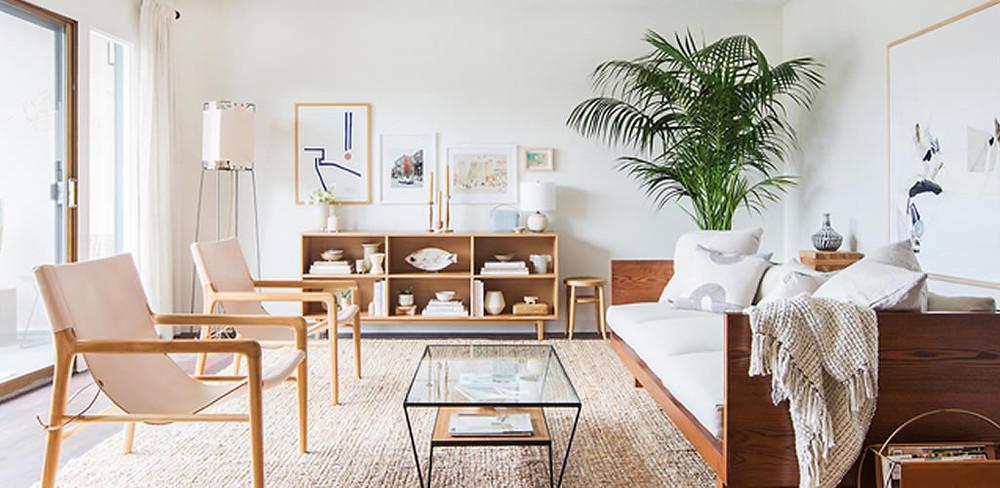 Decoración de hogar estilo Japandi