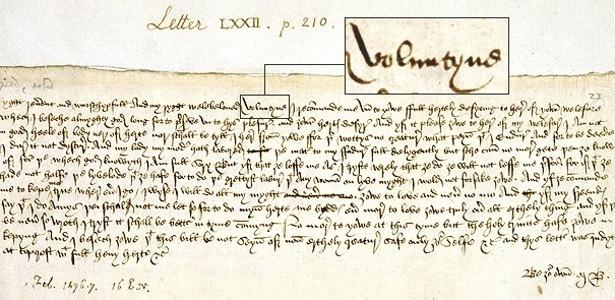 Carta de Margery Bres de Norfolk a John Paston
