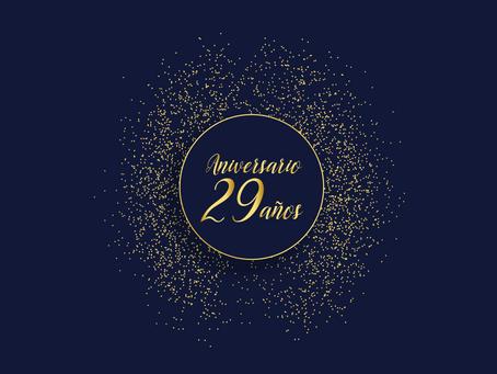¡Gracias por estos 29 años!