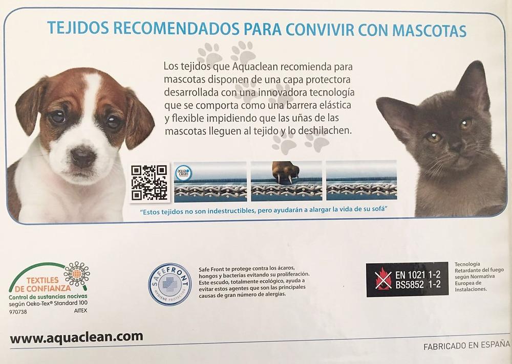 AquaClear Textiles Para Mascotas