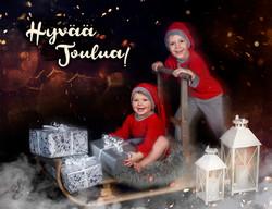 Joulukortti Viola ja Jasper