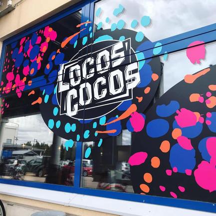 Locoscocos ylivieskan ikkunateippaukset