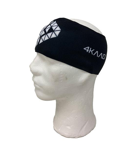 Headband black, Lycra