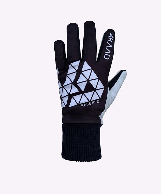 Race Pro glove leather, black white