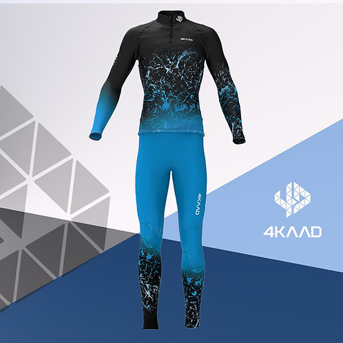 Race Suit KADANA, Blue black, 3D Lycra, 2pc