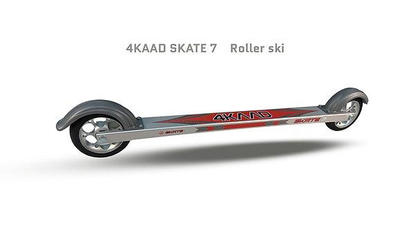 SKATE 7 silver-red Rollerski