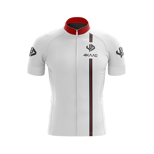 *CORE cycling jersey white-red-bk