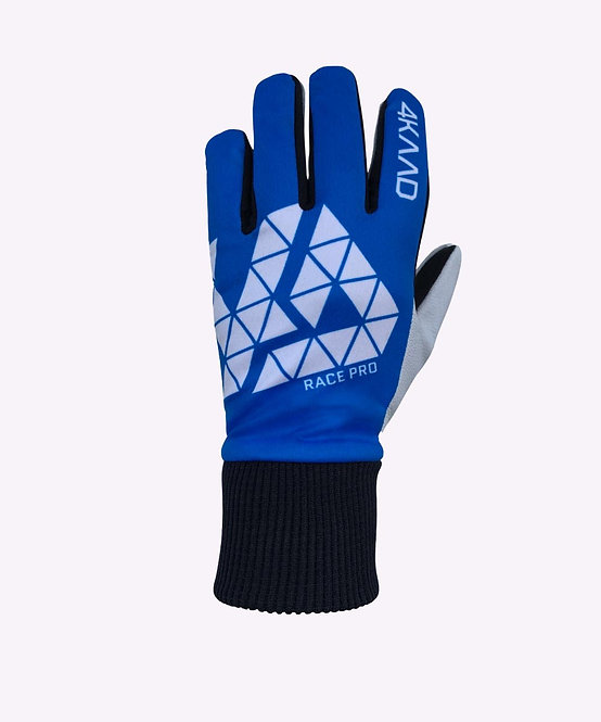 Race Pro glove leather, blue white
