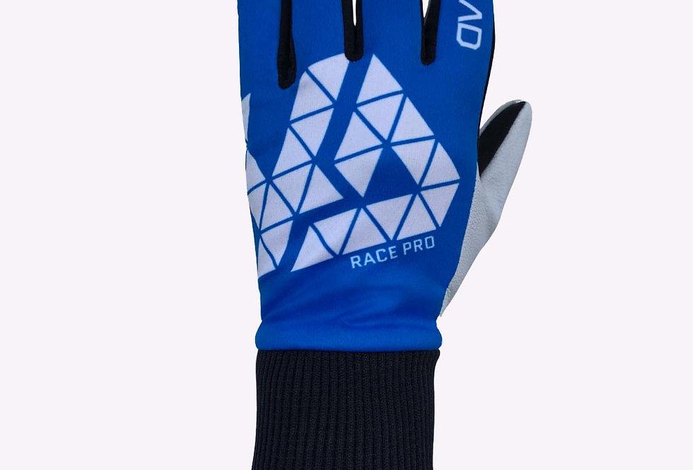 Race Pro glove leather, blue white