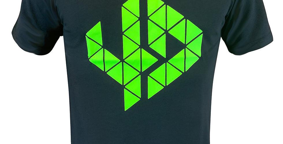 Logo T Shirt schwarz-gelb