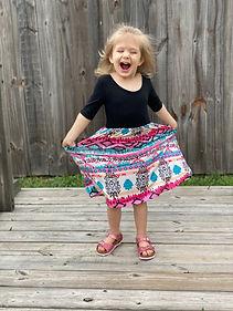 Skylar excited dress and pink birkenstoc