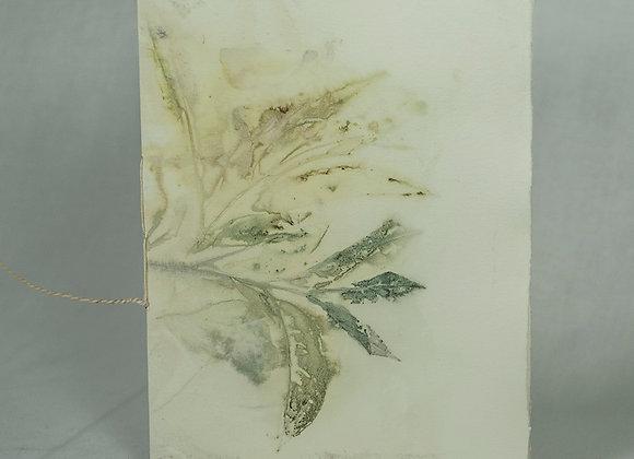 Blue Branch  Eco Printed Mini Journal