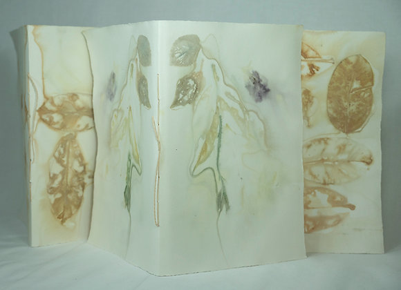 Mirror Image Blue Branch Eco Printed Journal