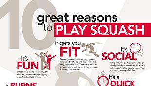 10 Reasons to play squash