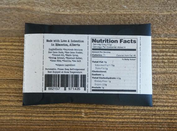 Hazelnut Butter and Cacao Nib Raw Chocolate Bar