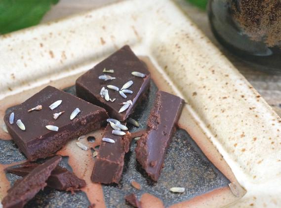 Lavender Coconut Milk Raw Chocolate Bar