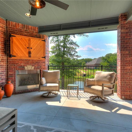 Outdoor fireplace Brenham Texas