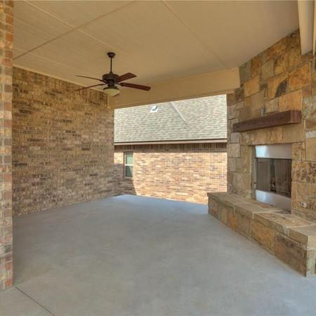 Ourdoor fireplace Brenham Texas