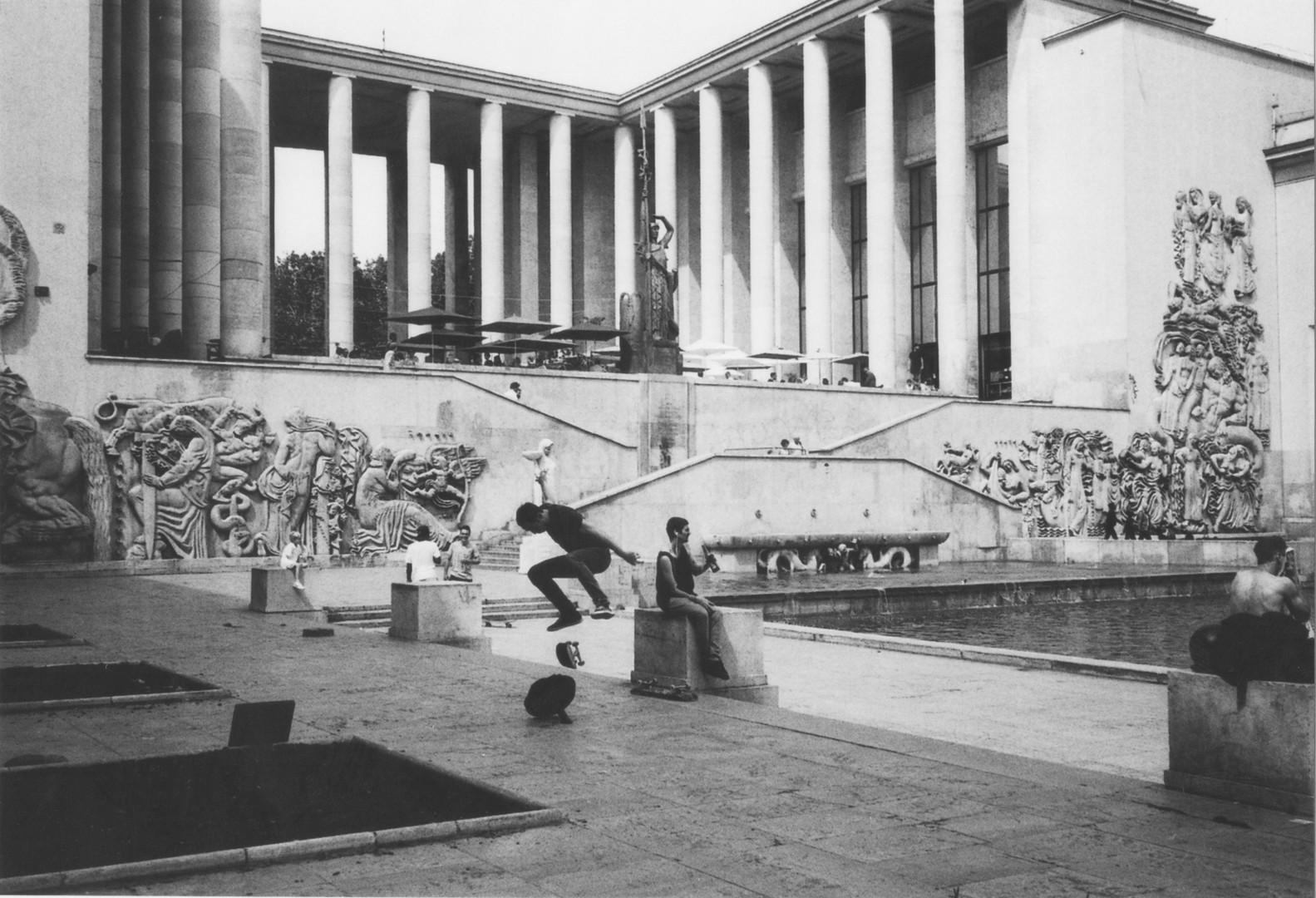Skateboarders in Paris One