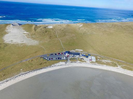 Twin Otter Simulator Landing at the Isle of Barra Beach