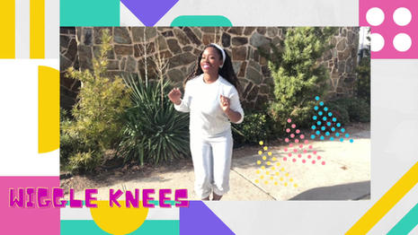 """Inspired by toddlers with """"wigglie"""" knees  The Wiggle Knees is a dance-a-long for toddlers."""