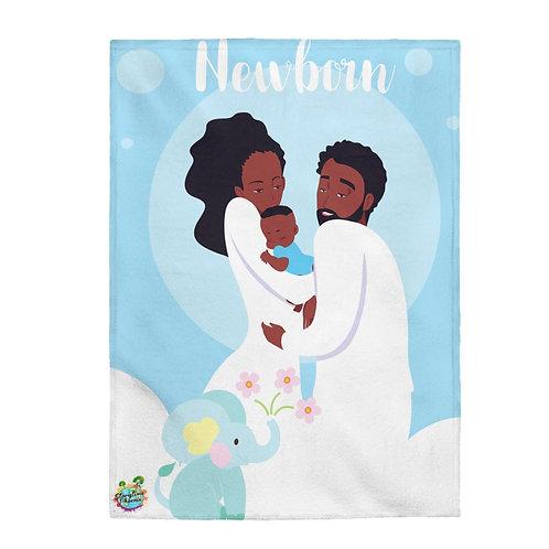 Velveteen Plush Blanket; Newborn