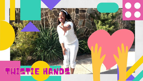 Inspired by toddlers who are just learning how to groove  Twistie Hands is a dance-a-long for toddlers.