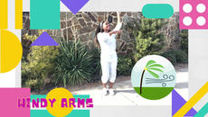 Inspired by the Island breezes of Jamaica and Hawaii  The Windy Arms is a dance-a-long for children.
