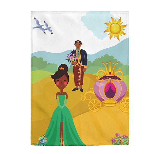 Velveteen Plush Blanket; The Prince and the Flower