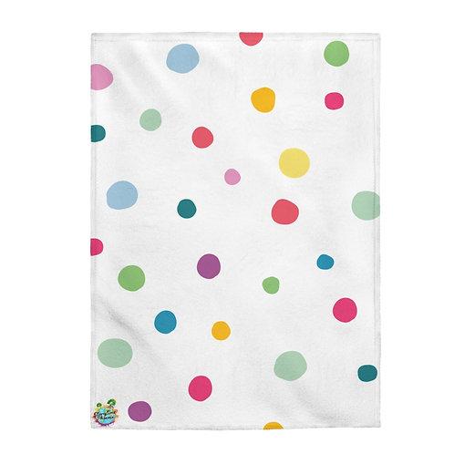 Velveteen Plush Blanket; Polka-Dot