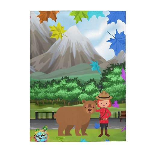 Storytime Snuggle Up Blanket; Girl and Bear