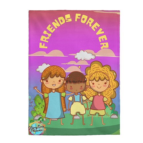 Velveteen Plush Blanket; Friends Forever