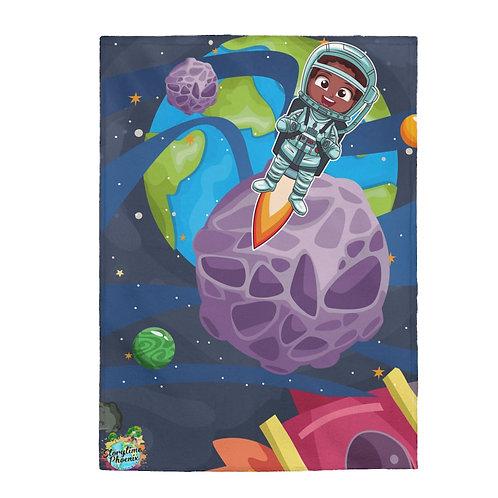 Velveteen Plush Blanket; Rocket Boy