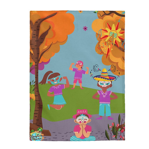 Storytime Snuggle Up Blanket; Fall Family