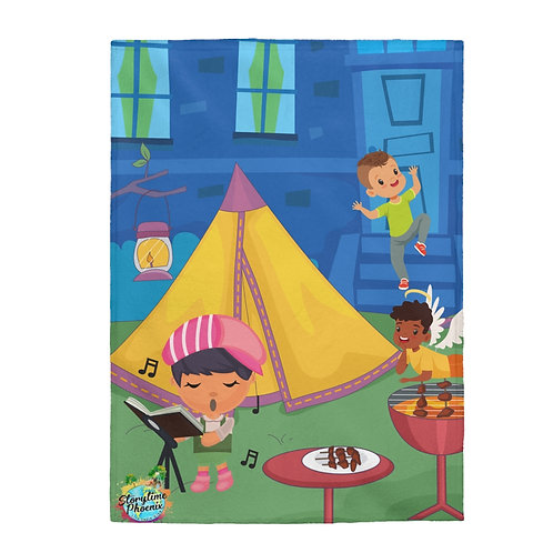 Storytime Snuggle Up Blanket; Campout
