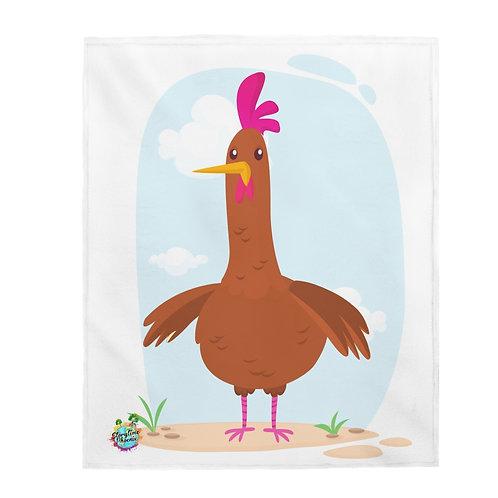 Velveteen Plush Blanket; Chick Chick