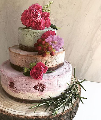 Raw wedding cake