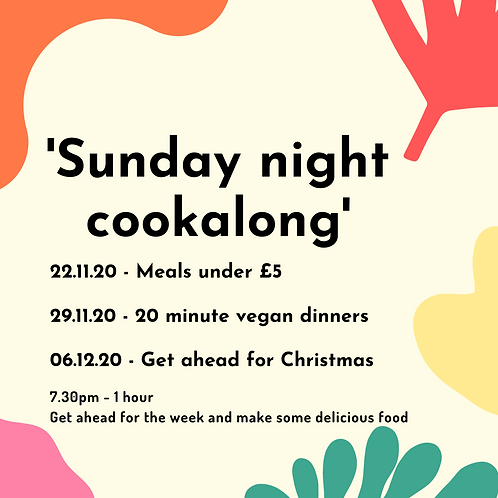 Sunday night cookalong - 6th December