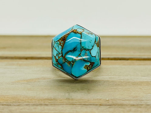 925 DRT Silver & Turquoise Ring