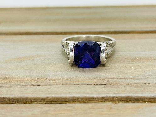 925 Purple Stone Ring