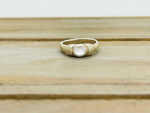 925 White Stone Ring