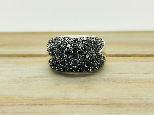 925 Ribbon Dome Onyx Style Ring