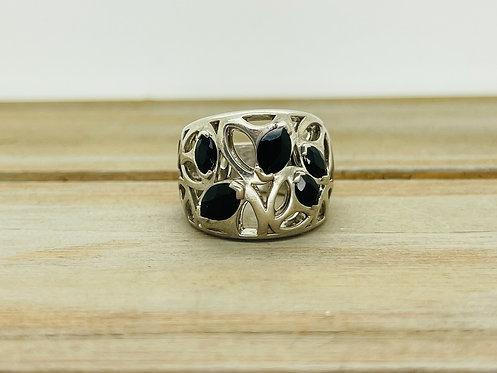 925 Onyx Designer Ring