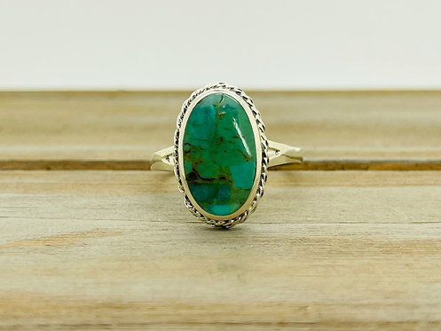 925 Oval Turquoise Ring