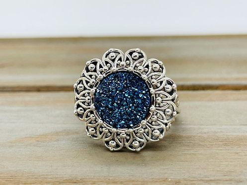 925 Drozy Blue Ring