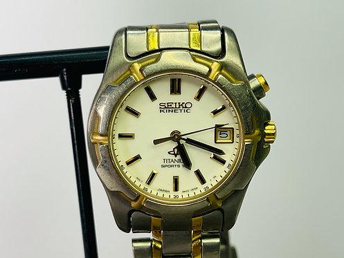 Seiko Kinetic Titanium Women's Wrist Watch SWP162