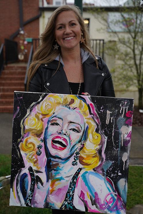 Marilyn Monroe  Speed painting (Original Painting)