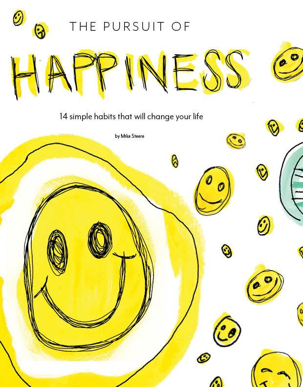 Happiness Magazine Spread